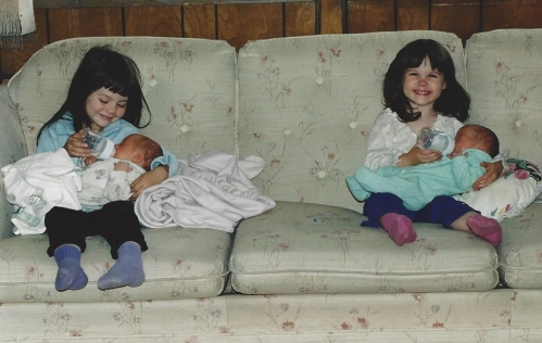 Is it any wonder people thought I had two sets of twins?